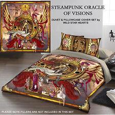 Steampunk Oracle di visioni-Set copripiumino per letto matrimoniale d'arte C manchetti