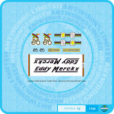 Eddy Merckx Bicycle - Decals - Transfers - Stickers - Set 12