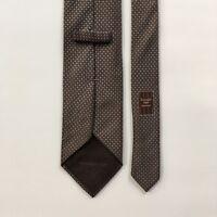 "Ermenegildo zegna tie l 61"" w 3.625"" brown light 100% silk made in italy pa0721"