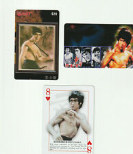 (2) Bruce Lee Rare Phone Cards + Bonus Playing Card