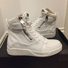 DOLCE AND GABBANA Leather Side Zip High Top Trainers UK 6/EU 40 £595