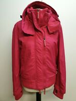 B468 WOMENS SUPERDRY THE WINDCHEATER PINK HOODED JACKET LARGE L 12 EU 40