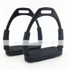 Neu Caballi Curve Schwarz Sicherheitssteigbügel mit Gelenk super flexibel