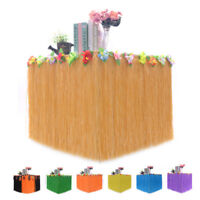 9ft Tropical Hawaiian Luau Table Grass Skirt with Flower BBQ Party Decorations