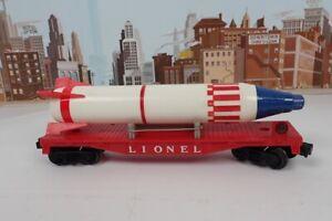 Vintage Postwar Lionel O Gauge No.6407 Flatcar With Original Sterling Rocket