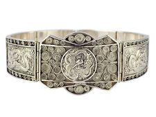 Art Deco Vietnam 900 Silber Armband Drachen Motiv 18,5 cm 33,7 gr