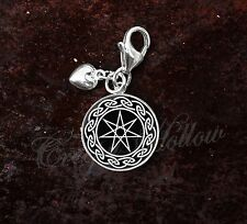 925 Sterling Silver Charm Septagram Faery Elven seven Point Star
