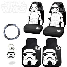 STAR WARS STROMTROOPER 6PC CAR SEAT COVERS MATS AND ACCESORIES SET FOR AUDI