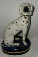 1 Antique Staffordshire Dogs Dalmation, Old Staffordshire Ware Figurines 1892