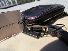 NEW BURBERRY Brindley ITALY dust bag coin purse wristlet wallet key leather $375
