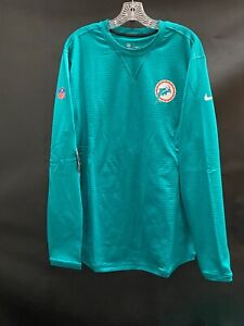 MIAMI DOLPHINS TEAM ISSUED THROWBACK LONG SLEEVE SWEATER NEW W/TAGS LARGE