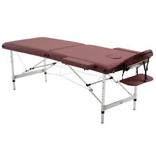 Massage Table Bed 2 Section Spa Beauty Bed Adjustable Portable w/ Carry Bag