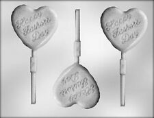 Happy Father's Day Heart Lollipop Candy Mold from CK #12624