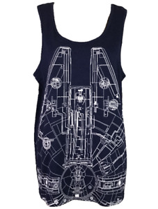 STAR WARS   Lucas Film Ltd   Graphic Tank Top Singlet   Navy Blue   Size M