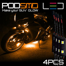 LED Motorcycle Rock Light Kit AMBER Underbody Neon Glow for Kawasaki Ninja 300