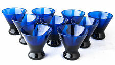 Glasses Cobalt Blue Cocktail Libbey (?) 8 fl. oz. Conical Weighted Bottom MCM