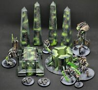 Necron Terrain Set - Tomb Crypt Pillars Generator 28mm Indomitus 9th Edition 40k
