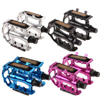 "1 Pair Aluminium Alloy BMX MTB Mountain Bike Bicycle Cycling 9/16"" Pedals Flat"