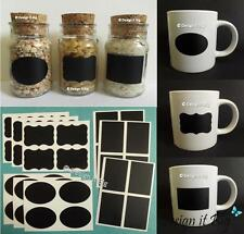 36x Multi Chalkboard Blackboard Craft Stickers Kitchen Jar Jam Label Chalk Board