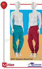 Rusty Mens Hooked in Beach Pant BNWT Cranberry & Pacific  *5 LEFT* Free Exp Post