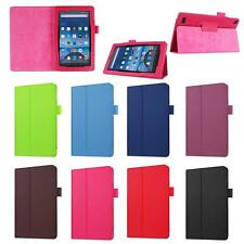PU Leather Shell Fold Case Cover For Amazon Kindle Fire HD 7 Inch Tablet EZ