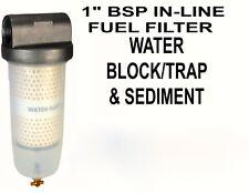 "Fuel Storage Tank Filter Water Trap Storage Sediment Bio Diesel 1""BSP B10-AL-BSP"