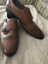 412fcbfb28a Banana Republic Oxford Double Monk Strap Leather Mens Dress Shoes Size 9M