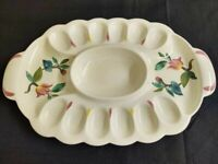 Vintage Redwing hand painted Blossom Time ceramic deviled egg platter