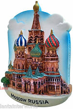 St. Basils Cathedral Square Church Moscow Russia 3D Fridge Magnet Refrigerator