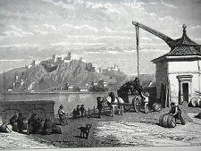 GRAVURE ANCIENNE 19e - EHRENBREITSTEIN - ALLEMAGNE