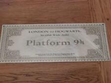 GOOD QUALITY HARRY POTTER METAL SIGN WALL PLAQUE TRAIN TICKET LONDON 9 3/4 40X15