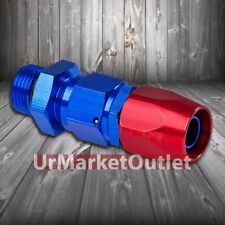 Red/Blue Straight Swivel Oil/Fuel/Fluid Line Hose End 12AN T3 Fitting Adapter