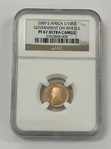 2009-S NGC PF67 Ultra Cameo 1/10 oz Krugerrand Government on Wheels Commem Coin*