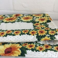 Pair QUILTED CUSHION Covers Floral Polka Cotton COTTON x 2 As New