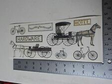TUMBLEBEASTS HORSE & BUGGY BICYCLES STICKERS SCRAPBOOKING NEW A2766
