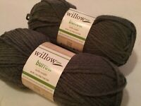 2 WILLOW YARNS! BURROW  3.5 OZ / 131 YDS  EA 75% ACRYLIC 25% WOOL COLOR: WOOLEN
