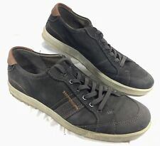 Ecco Casual Sneakers Gray leather Sz 44 10-10.5