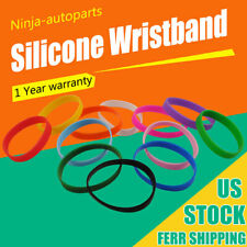 10PCS Adult Blank Silicone Bracelet Rubber Wristbands Multi-color Brand New Band