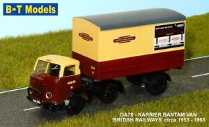 B- T MODELS DA77 1:76 OO KARRIER BANTAM BRITISH RAILWAYS TOY MODEL HORNBY NEW