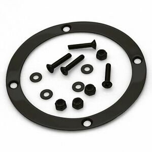 American Shifter 403146 Shifter PG 8 Trim Kit Dipstick Push Button BLK Boot Ringed Knob for D6B59