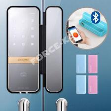 Bluetooth Keyless Lock for Glass Door Gateman Shine Doorlock Pin+RFID+Holder New