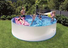 Steinoptik Easy Pool Dekor Schwimmbecken Set 3,50 x 0,90 m Stahlwand + Filter