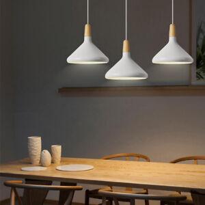 Dining Room Pendant Lights Kitchen Wood Lamp White Bar Lamp Home Ceiling Light