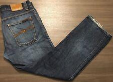 Nudie Jeans Co Mens Average Joe Dry Dirt Organic Straight Boot 33W x 29L NJ2627