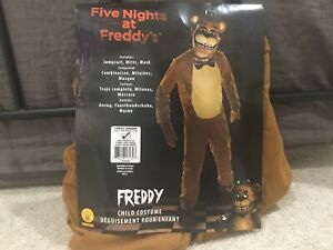 Five Nights at Freddy's Freddy Unisex Kids Costume, No Mask, Excellent Condition