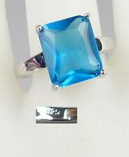 Ring aus 925 Silber mit Blautopas, Gr. 54/Ø 17,2 mm  (da4898)