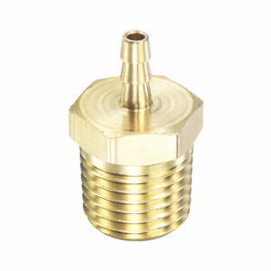 Brass Hose Barb Fitting Straight 1/8 Inch x NPT 1/4 Male Thread Pipe Connector
