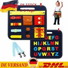 Montessori Lernspielzeug Spielzeug mit Schnallen und Verschlüssen Kleinkinder