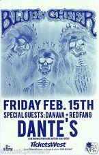 BLUE CHEER / DANAVA / RED FANG 2008 PORTLAND CONCERT TOUR POSTER-Hard Rock Music
