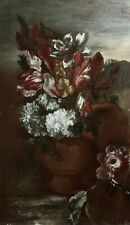 18th CENTURY LARGE DUTCH OLD MASTER OIL ON CANVAS - FLOWERS IN AN URN